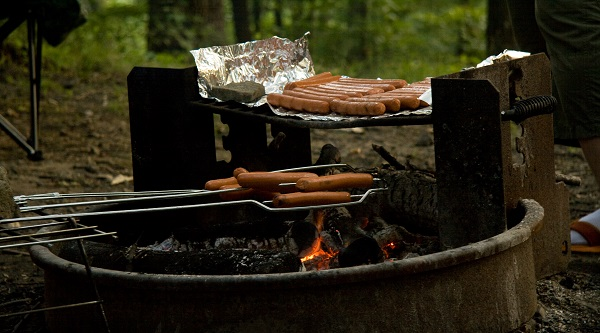 Cooking Hot Dogs on the Campfire small