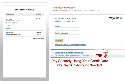 Paying with Credit/Debit Card on PayPal